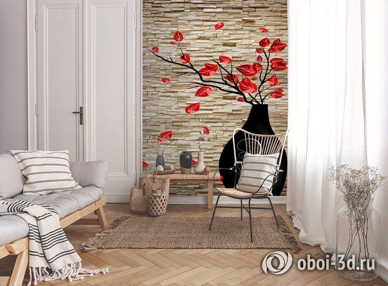 3D Фотообои «Ваза на декоративном камне» вид 9
