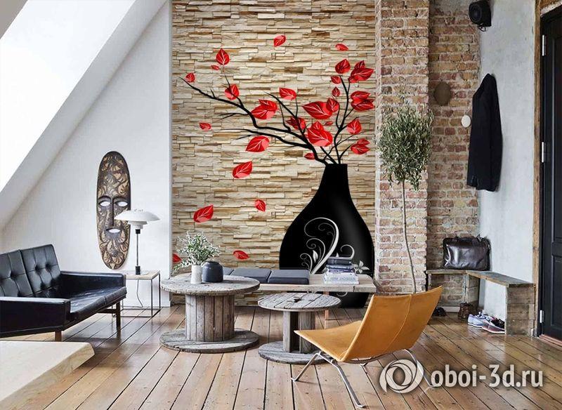3D Фотообои «Ваза на декоративном камне» вид 7