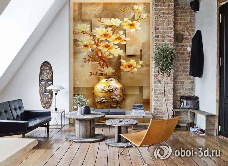 3D Фотообои «Объемная китайская ваза» вид 7