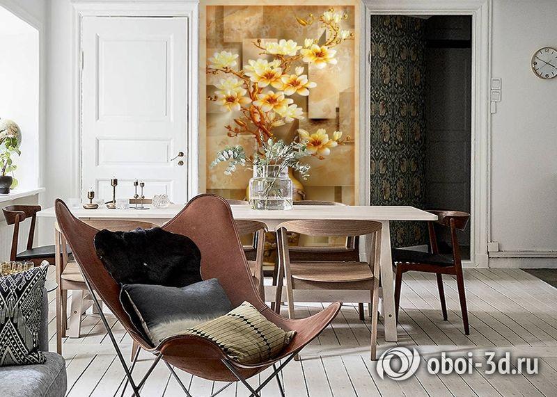 3D Фотообои «Объемная китайская ваза» вид 6