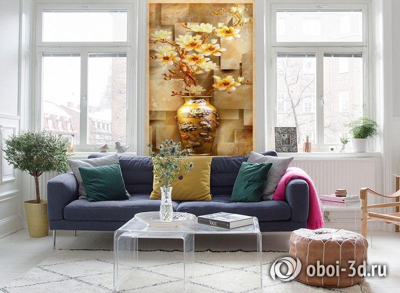 3D Фотообои «Объемная китайская ваза» вид 5