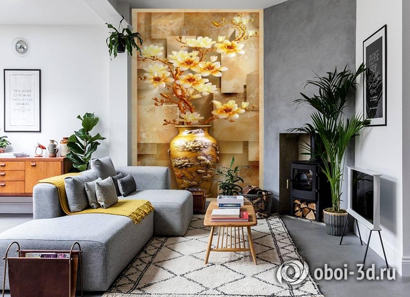 3D Фотообои «Объемная китайская ваза» вид 2