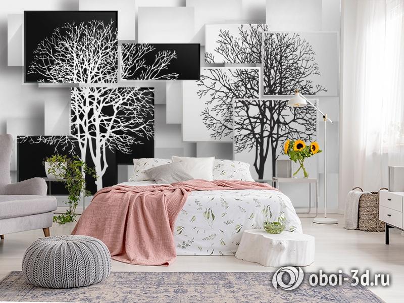 3D Фотообои «Деревья в стиле модерн» вид 2