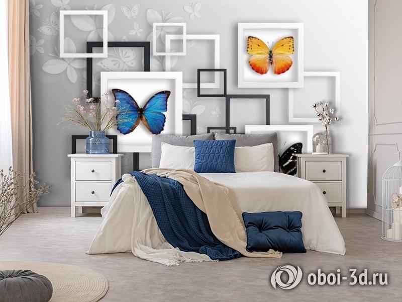 3D Фотообои «Коллекция бабочек» вид 7