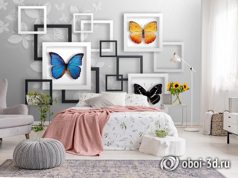 3D Фотообои «Коллекция бабочек» вид 2