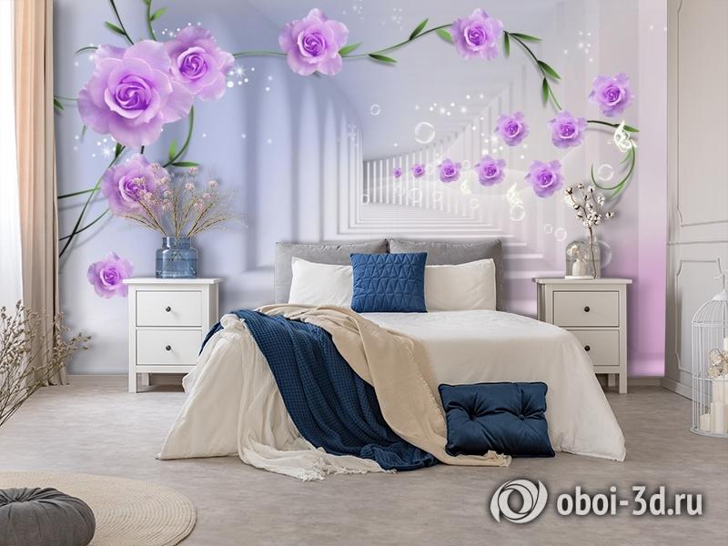 3D Фотообои «Тоннель с розами» вид 7
