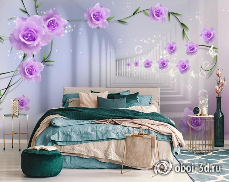 3D Фотообои «Тоннель с розами» вид 6