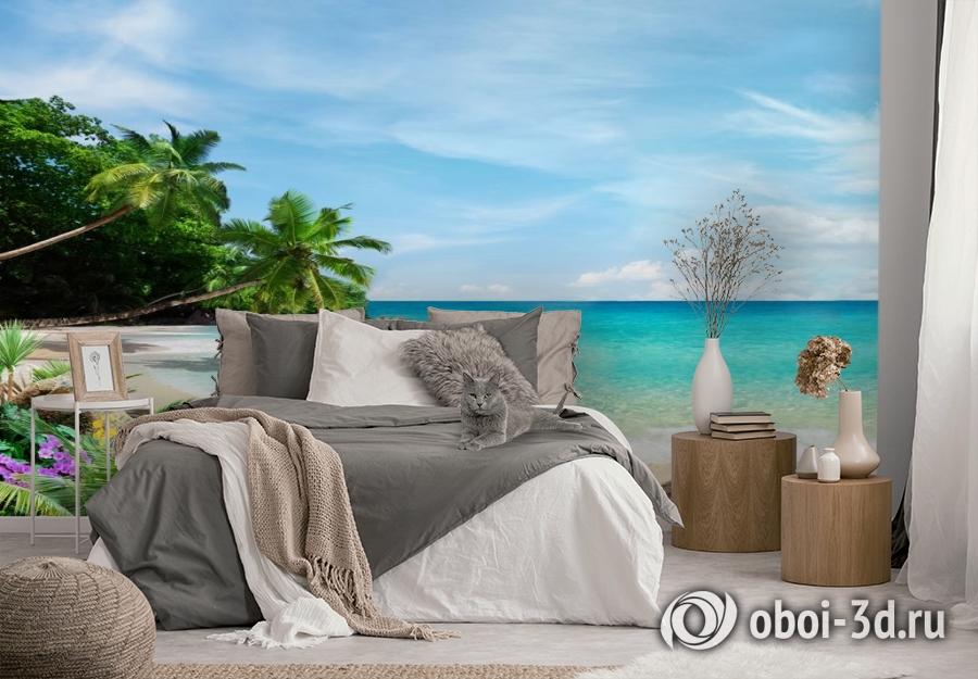 3D Фотообои «Тропический пляж» вид 2