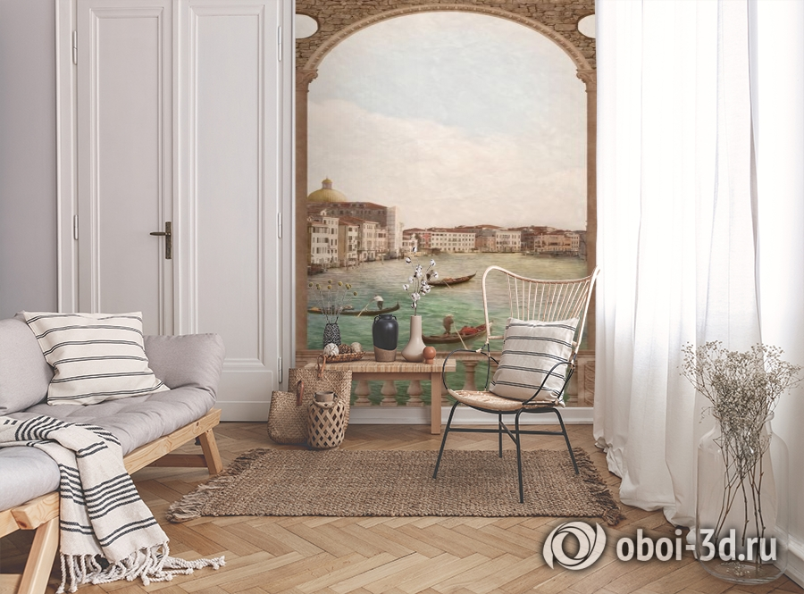 3D Фотообои «Венецианский канал 2» вид 9
