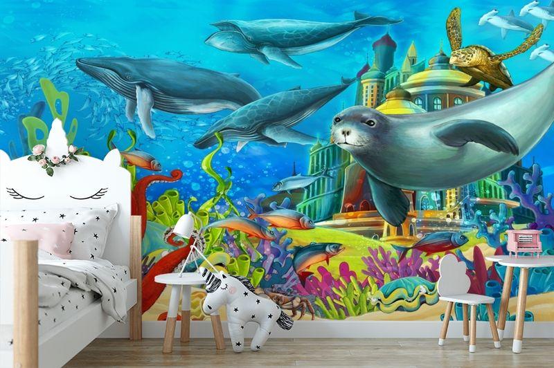 "3D Фотообои  ""Морские обитатели"" Детские вид 4"