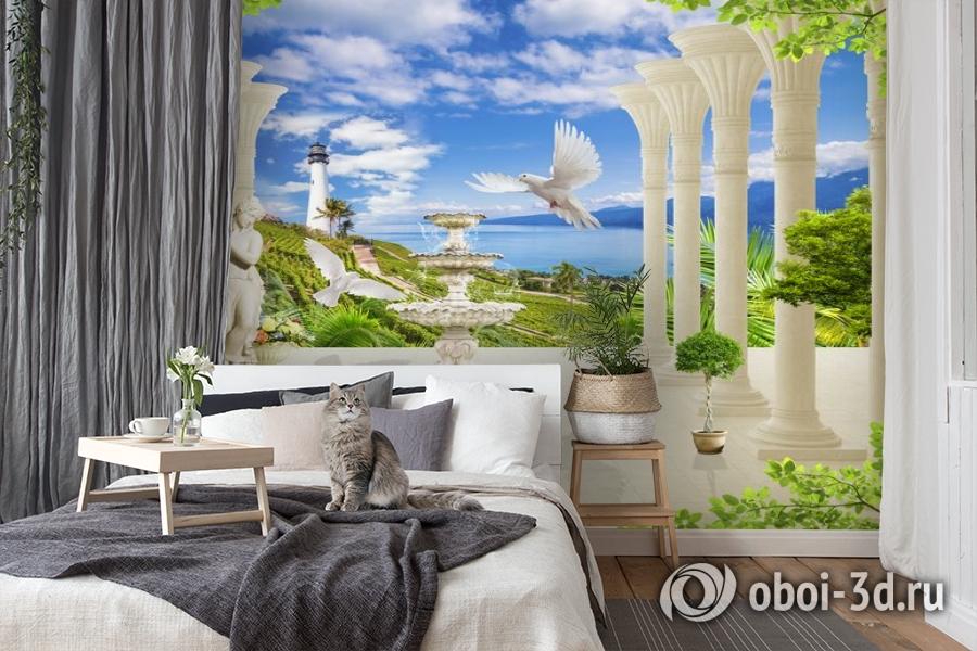 3D Фотообои «Терраса из сновидений» вид 7