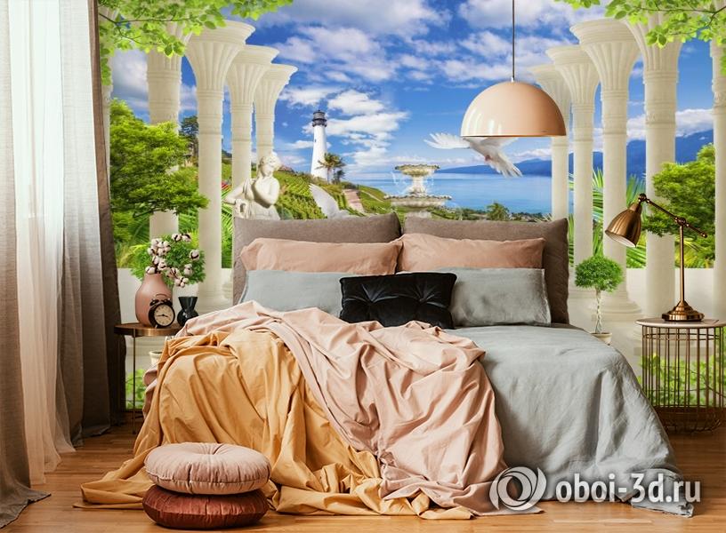 3D Фотообои «Терраса из сновидений» вид 4