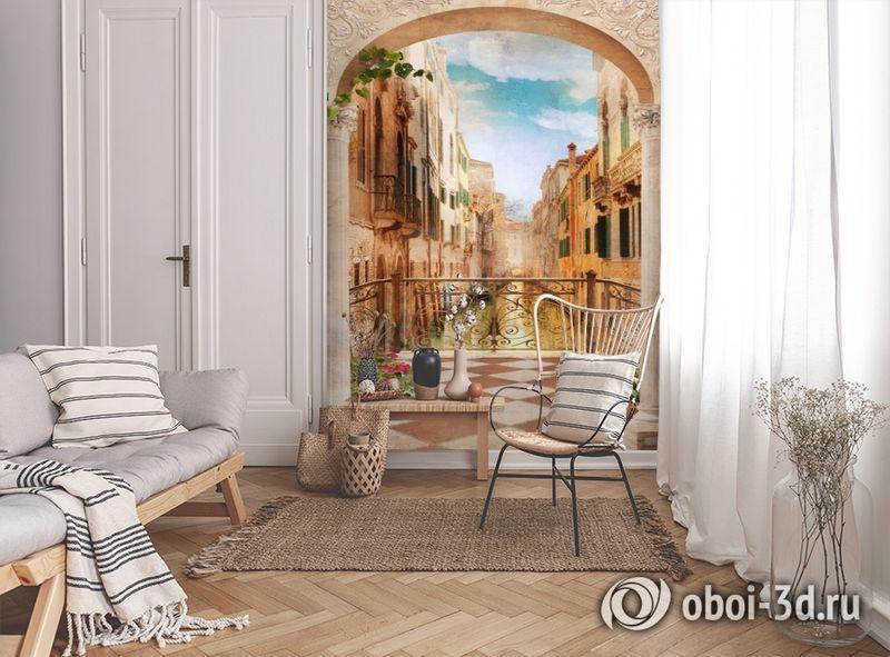 3D Фотообои «Балкончик в Венеции» вид 9