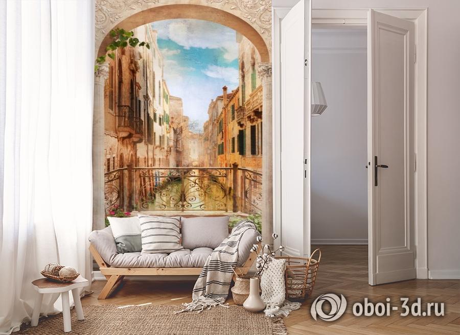 3D Фотообои «Балкончик в Венеции» вид 8