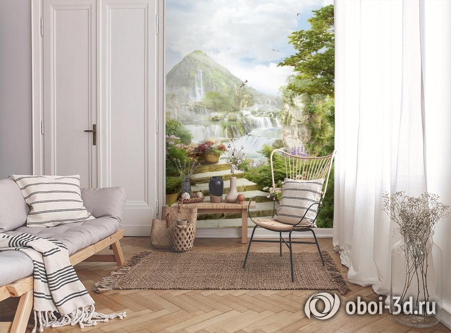 3D Фотообои «В стране водопадов» вид 9