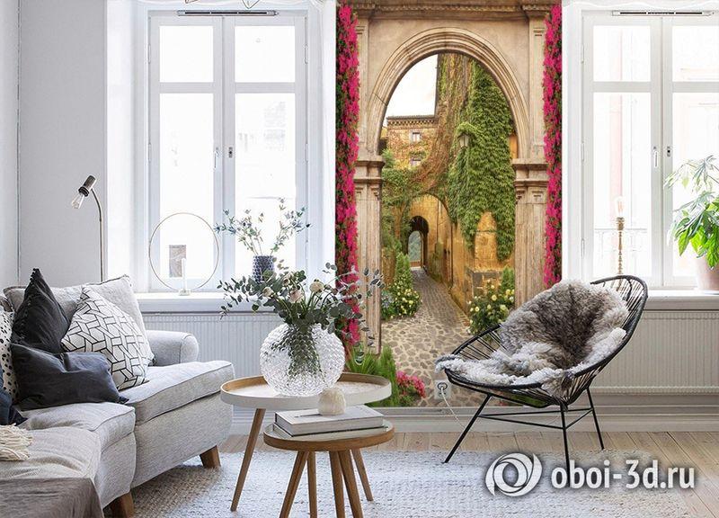 3D Фотообои «Арка в старом поместье» вид 4