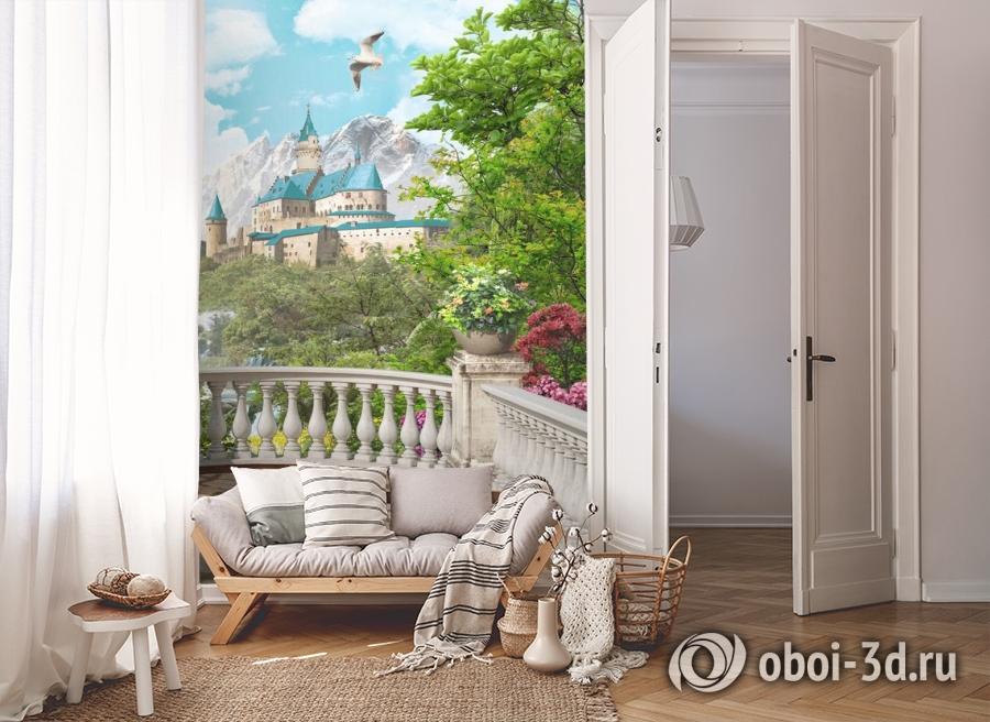 3D Фотообои «Замок по соседству» вид 8