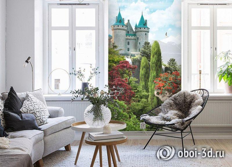 3D Фотообои «Загадочный замок» вид 4
