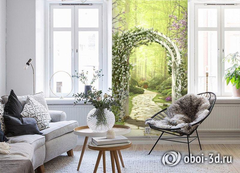 3D Фотообои «Дорожка в волшебном лесу» вид 4