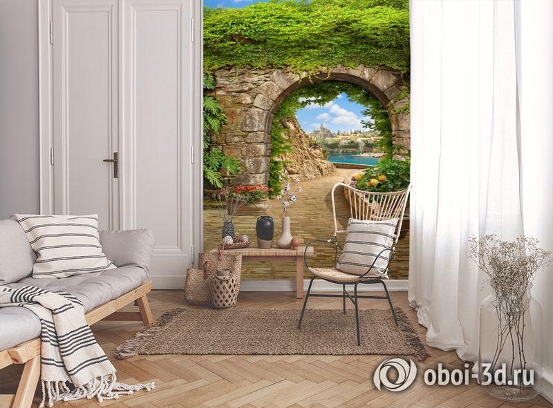 3D Фотообои «Зеленая арка в Сицилии» вид 9