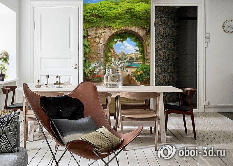 3D Фотообои «Зеленая арка в Сицилии» вид 6