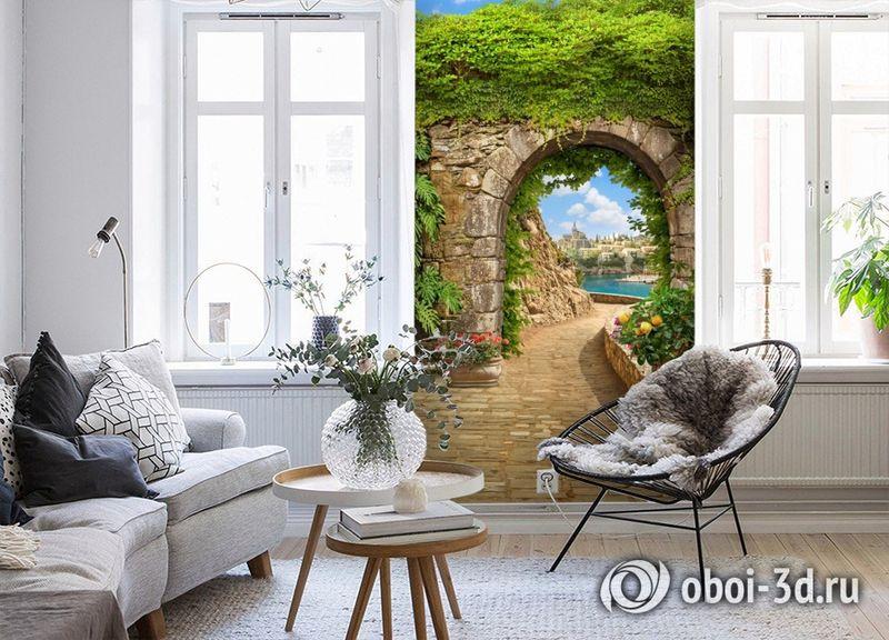 3D Фотообои «Зеленая арка в Сицилии» вид 4