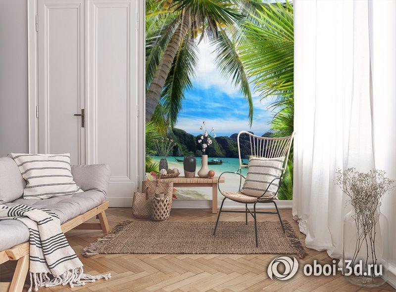 3D Фотообои «Лодочки в тропическом заливе» вид 9