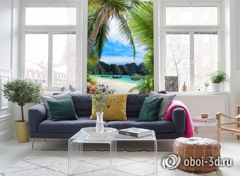 3D Фотообои «Лодочки в тропическом заливе» вид 5