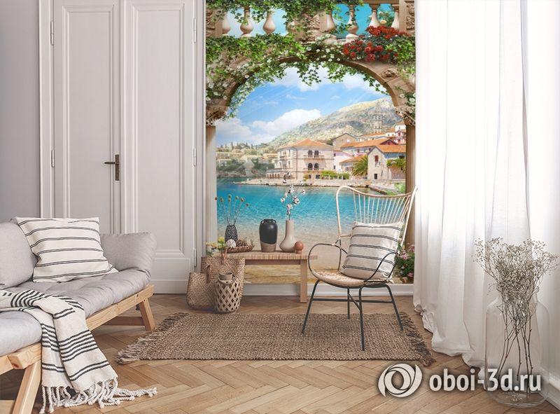 3D Фотообои «Городок на берегу залива» вид 9