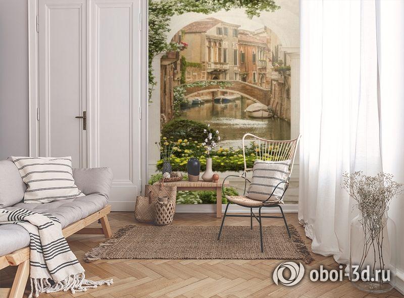 3D Фотообои «Венецианский дворик 1» вид 9