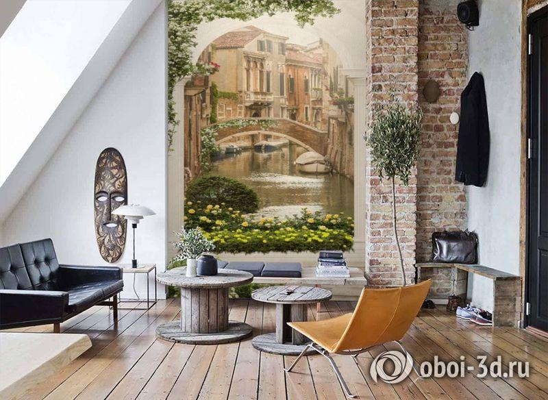 3D Фотообои «Венецианский дворик 1» вид 7