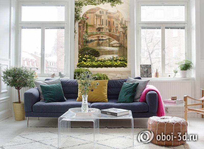 3D Фотообои «Венецианский дворик 1» вид 5