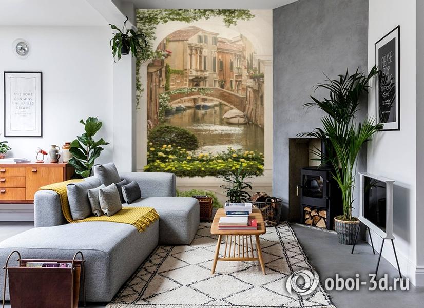 3D Фотообои «Венецианский дворик 1» вид 2