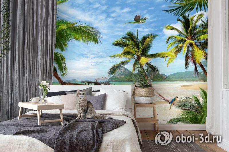 3D Фотообои «Карибский берег» вид 7