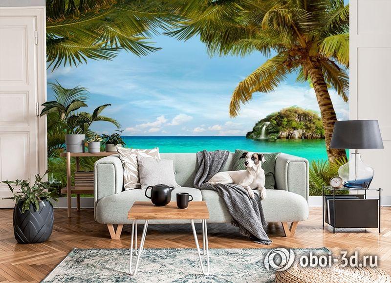 3D Фотообои «Под пальмами» вид 6