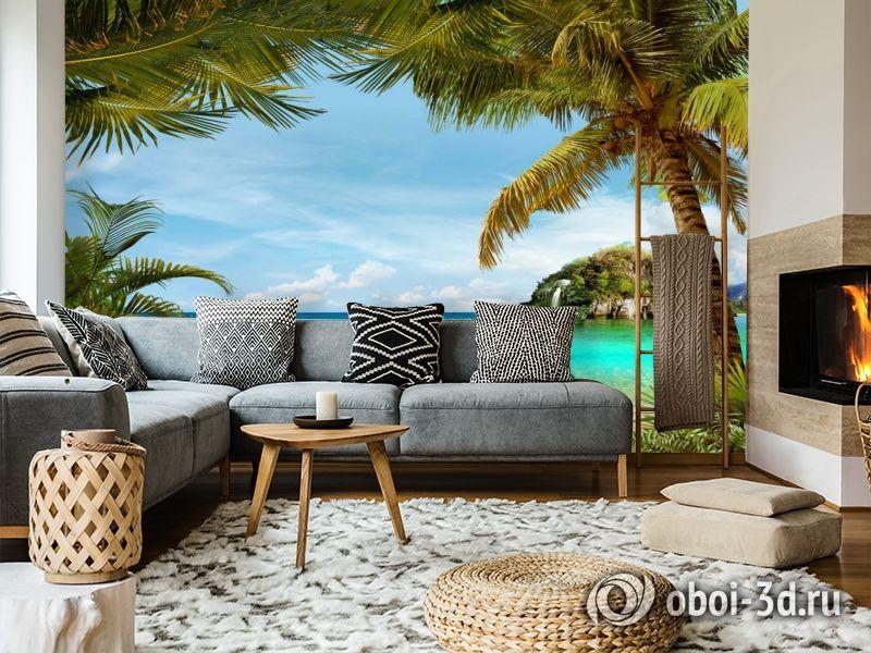 3D Фотообои «Под пальмами» вид 5