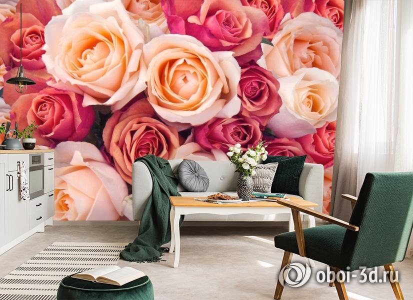3D Фотообои «Ассорти из роз» вид 7