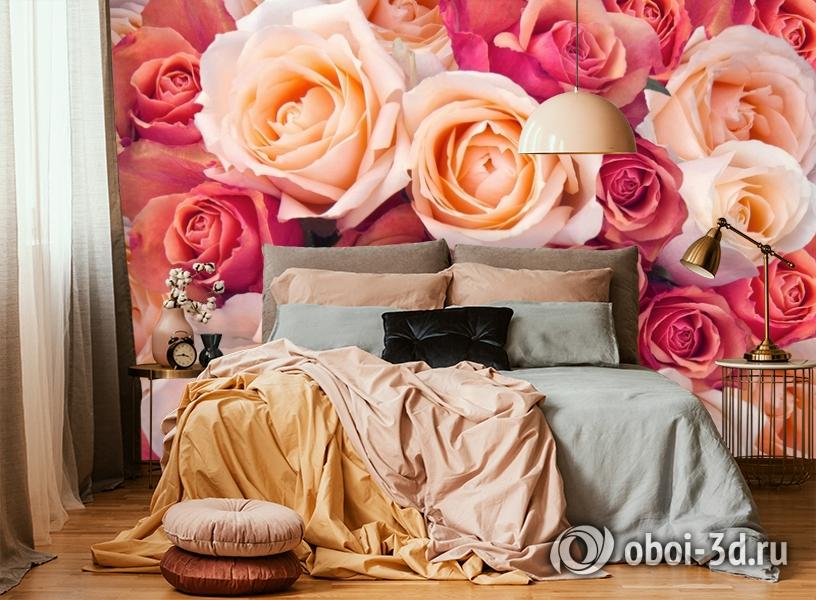 3D Фотообои «Ассорти из роз» вид 6