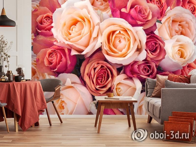 3D Фотообои «Ассорти из роз» вид 5