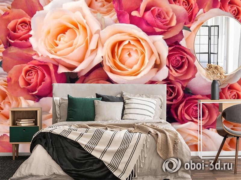 3D Фотообои «Ассорти из роз» вид 4