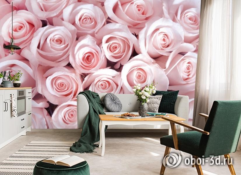 3D Фотообои «Благоухающий букет нежных роз» вид 7