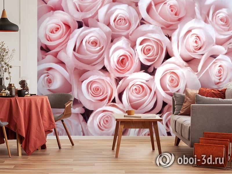 3D Фотообои «Благоухающий букет нежных роз» вид 5