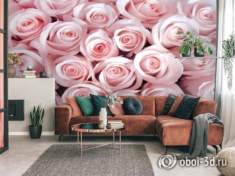 3D Фотообои «Благоухающий букет нежных роз» вид 3
