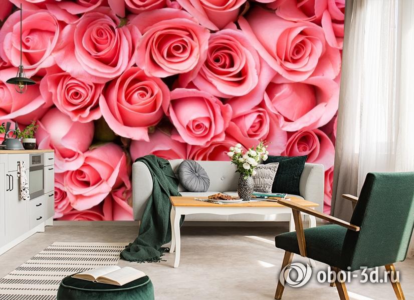 3D Фотообои «Обилие роз» вид 7