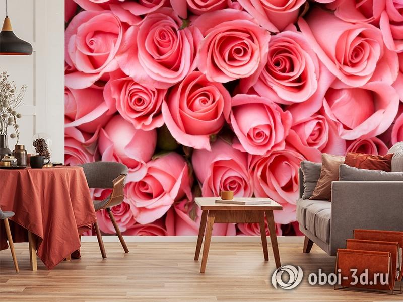 3D Фотообои «Обилие роз» вид 5