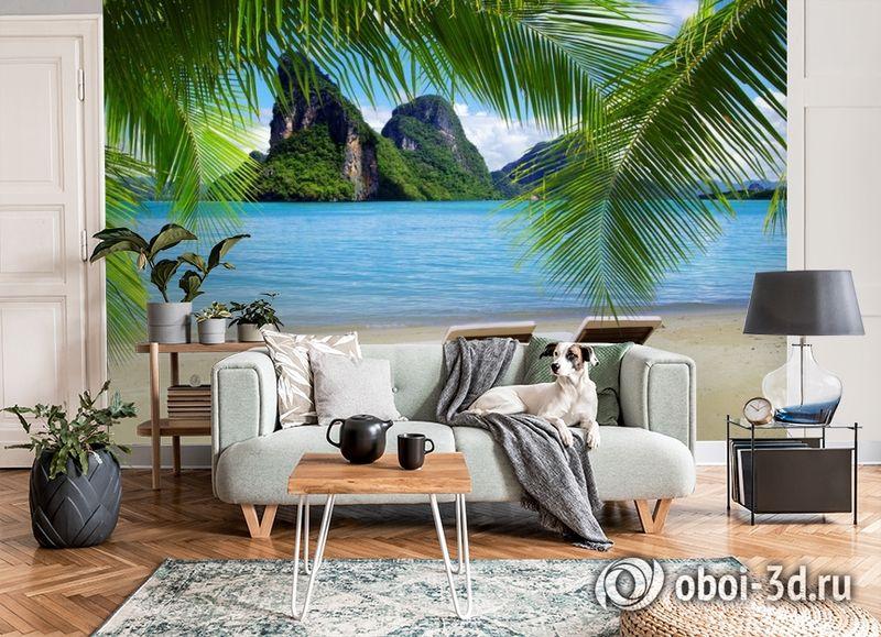 """3D Фотообои """"Солнечный пляж Таиланд""""  Природа вид 7"""