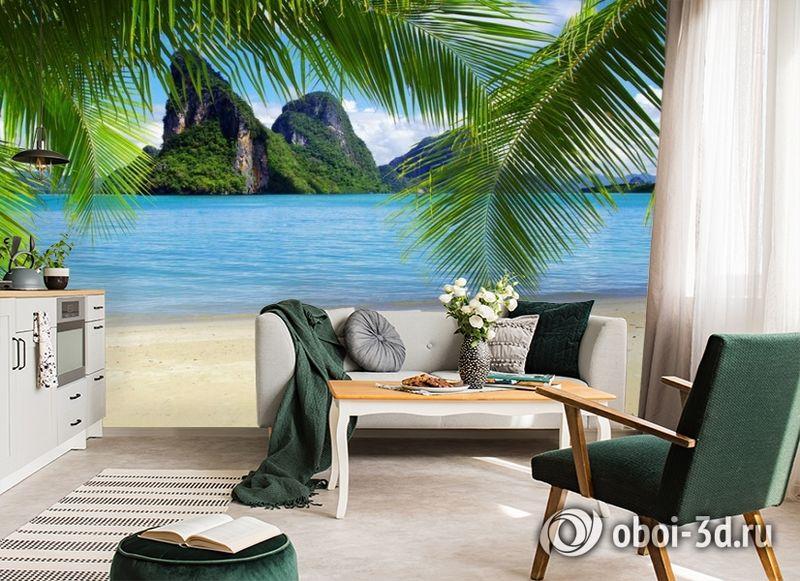 """3D Фотообои """"Солнечный пляж Таиланд""""  Природа вид 6"""
