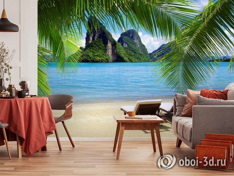 """3D Фотообои """"Солнечный пляж Таиланд""""  Природа вид 5"""
