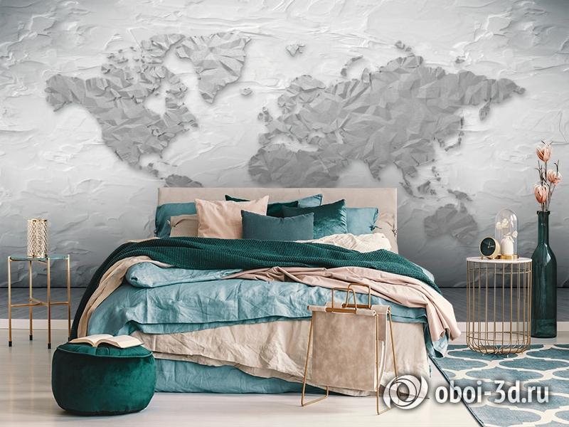 3D Фотообои «Карта лофт» вид 7