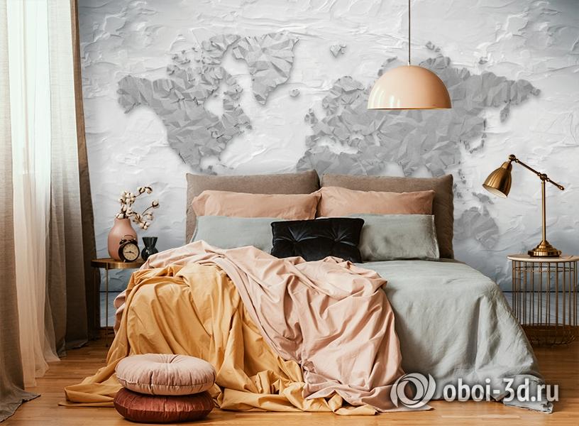 3D Фотообои «Карта лофт» вид 5